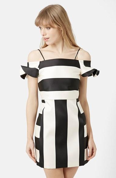 Lyst Topshop Bardot A Line Dress In Black