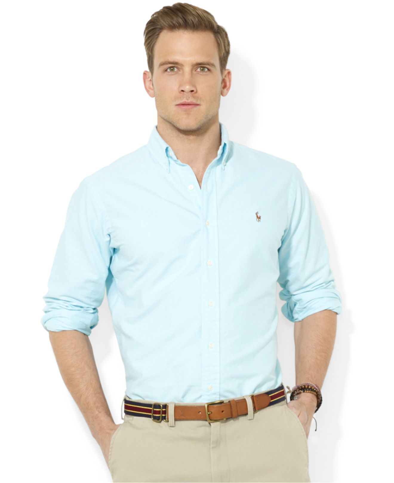 69296eb9 Polo Ralph Lauren Core Classic-Fit Solid Oxford Shirt in Blue for ...
