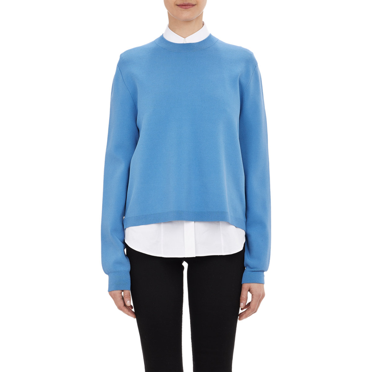 acne studios women 39 s misty sweater in blue lyst. Black Bedroom Furniture Sets. Home Design Ideas