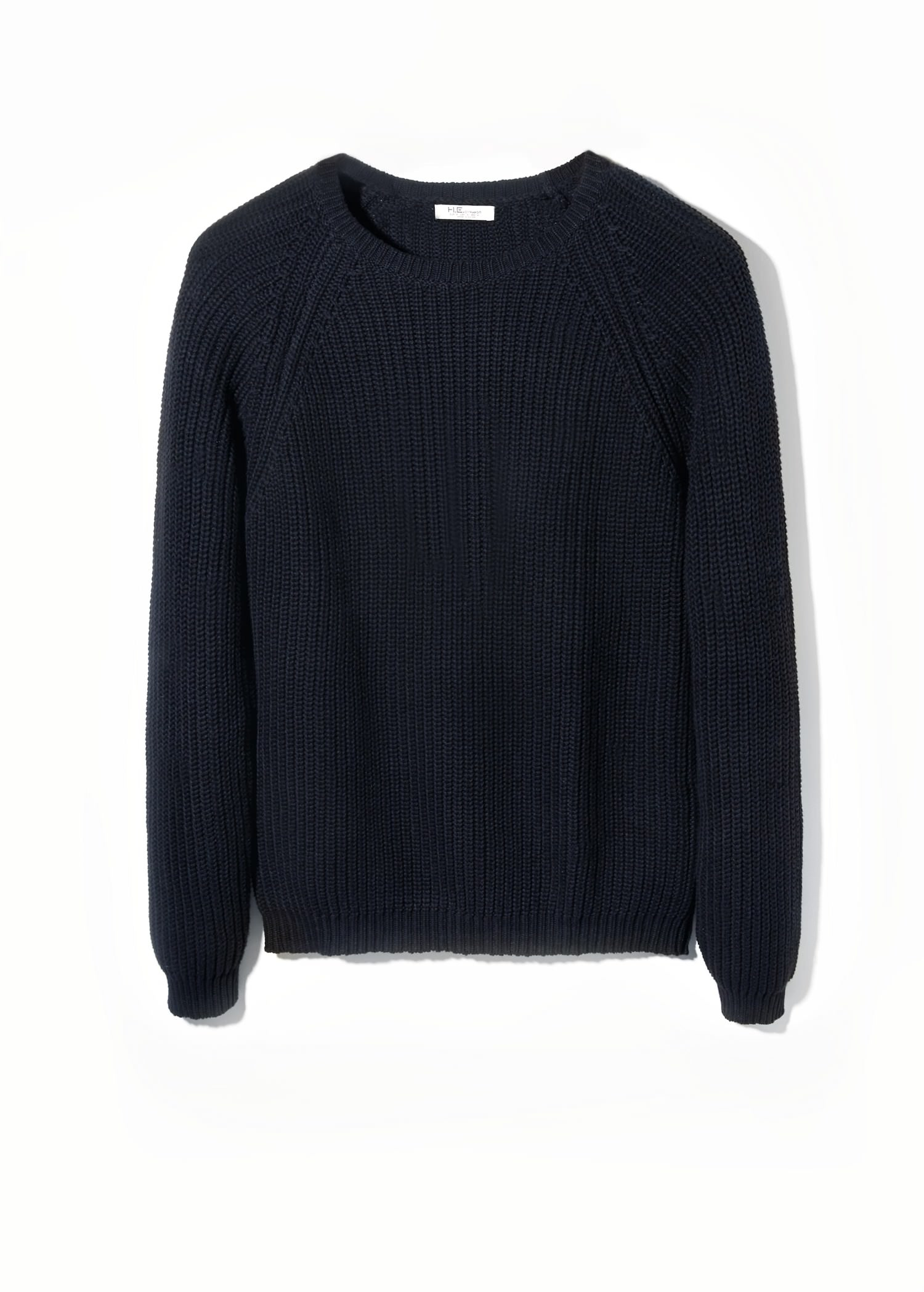 Mango Cotton Chunky-Knit Sweater in Black for Men | Lyst