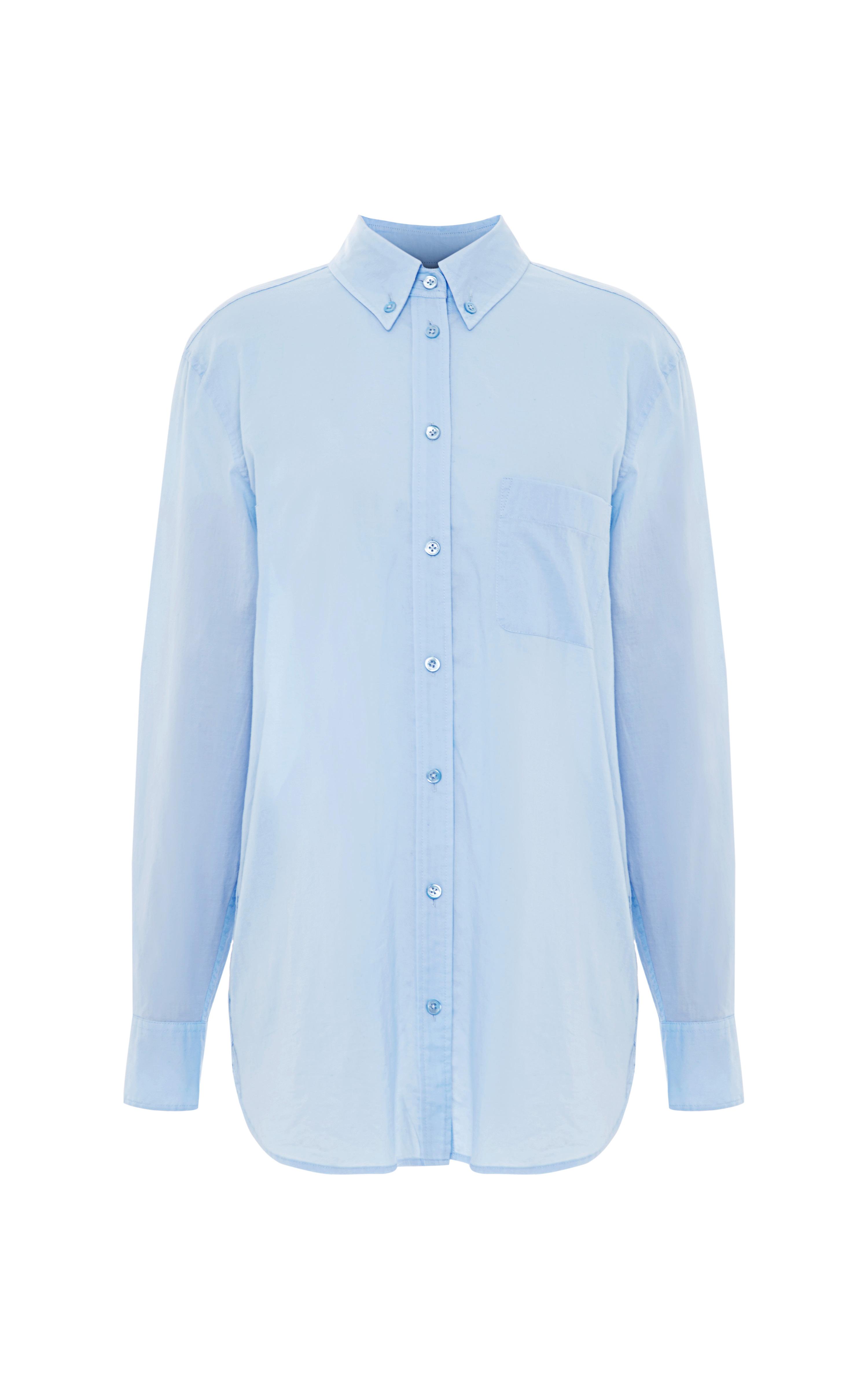 Lyst Equipment Margaux Cotton Buttondown Shirt In Blue