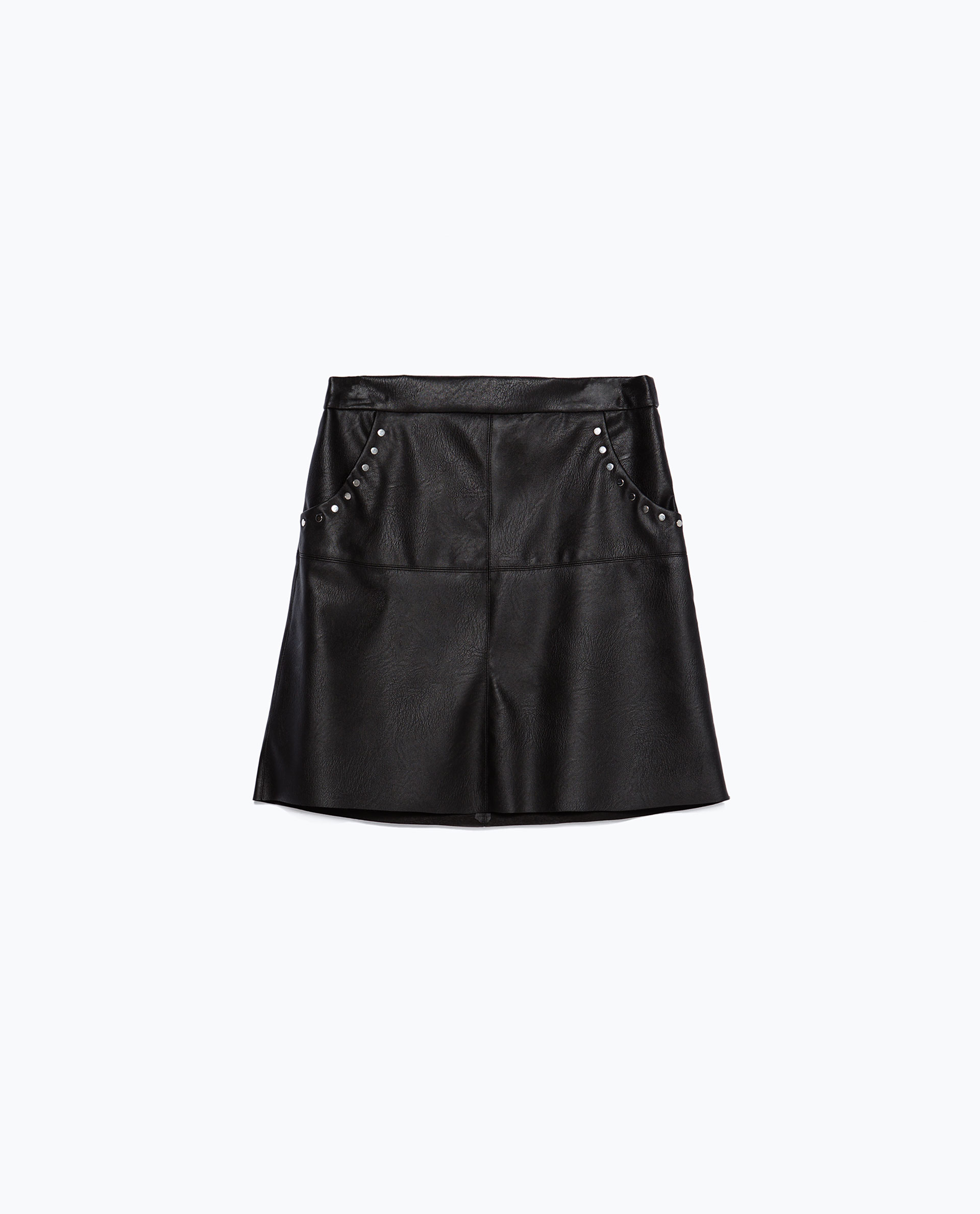zara faux leather skirt in black lyst