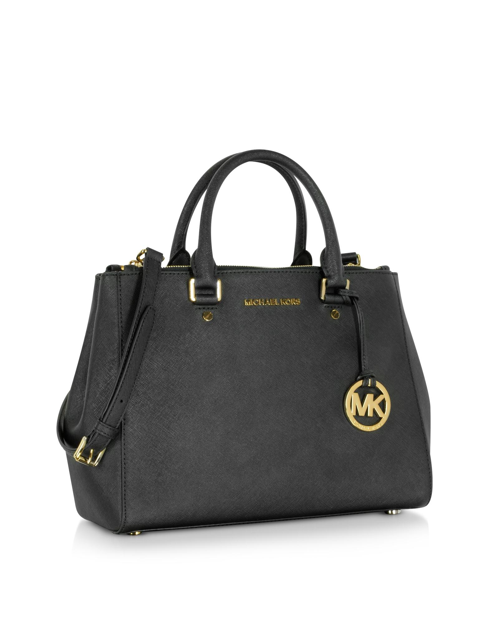 michael kors sutton medium saffiano leather satchel bag in. Black Bedroom Furniture Sets. Home Design Ideas