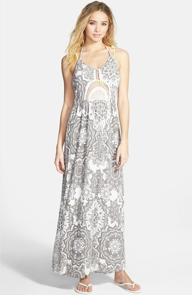 Rip curl 'painted Desert' Halter Maxi Dress in Gray | Lyst