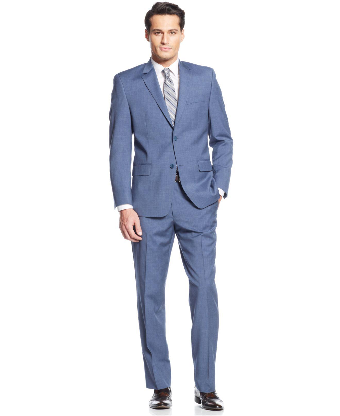 Michael kors Michael Mid-Blue Suit in Blue for Men | Lyst