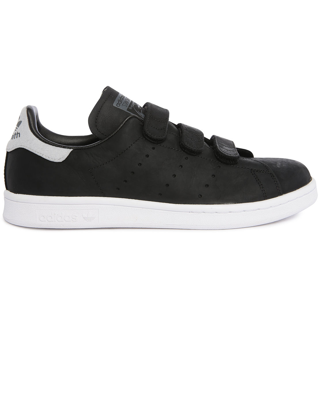 adidas originals stan smith black leather velcro sneakers in black for men lyst. Black Bedroom Furniture Sets. Home Design Ideas