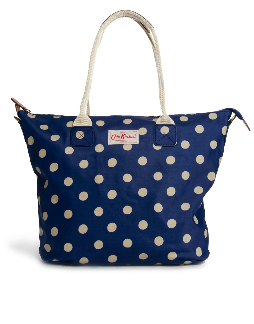 Cath Kidston Tall Zipped Tote Bag In Blue (Royalblue) | Lyst