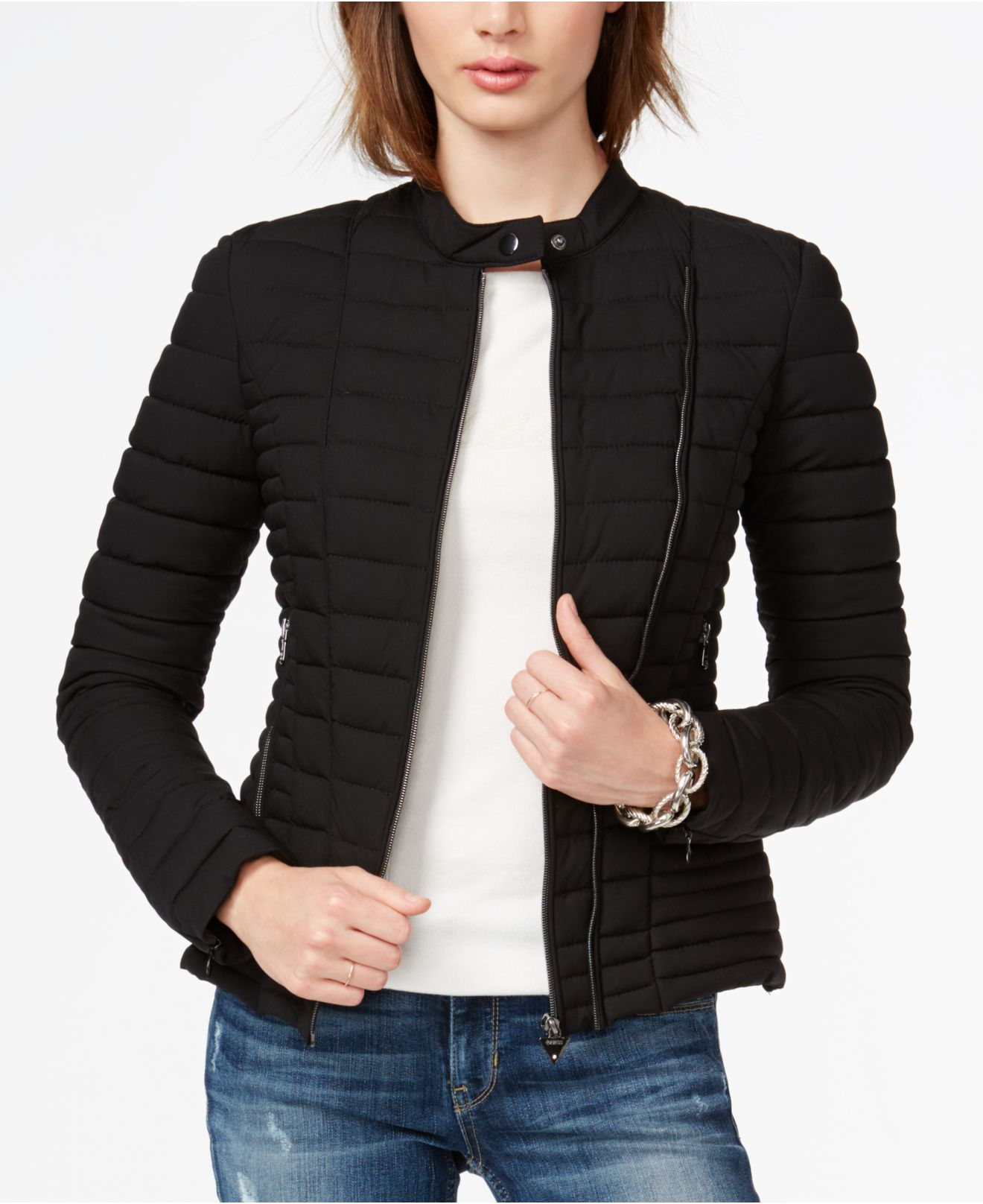 Lyst Guess Vona Puffer Jacket In Black