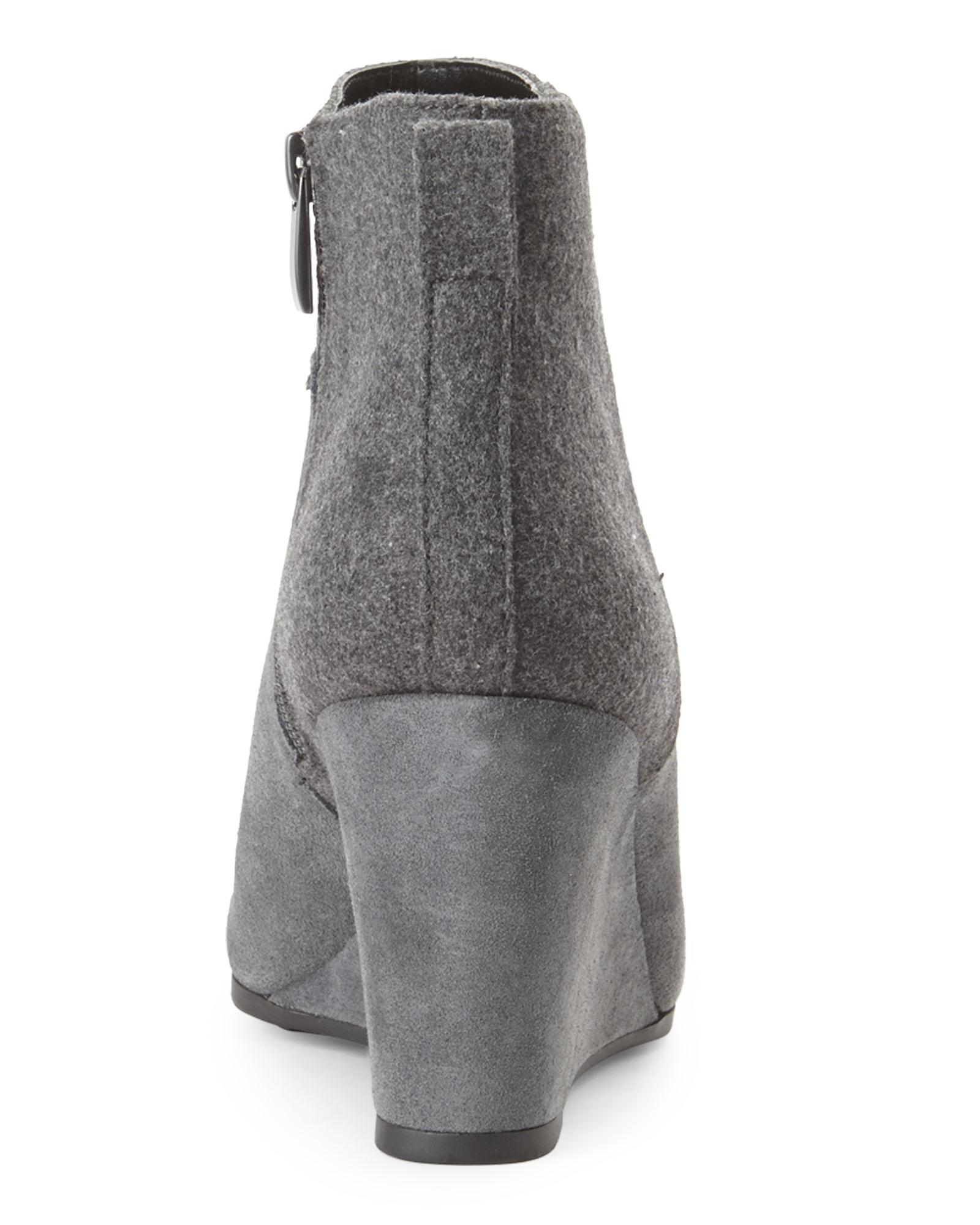 7cca45b53ff Lyst - Tahari Elephant Grey Sutton Wedge Boots in Gray
