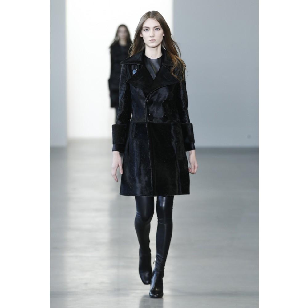 Calvin klein Leather Shift Dress in Black