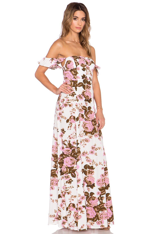Lyst Flynn Skye X Revolve Bardot Jersey Dress In Pink