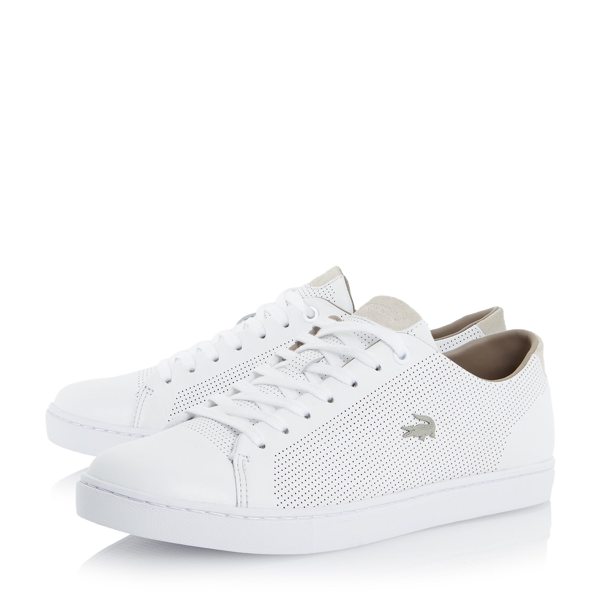 316febc01eb0f Lyst - Lacoste Showcourt Cupsole Lace Trainers in White for Men