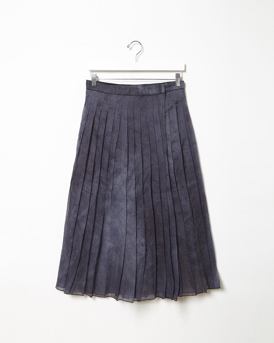 lanzi pleated skirt in blue lyst