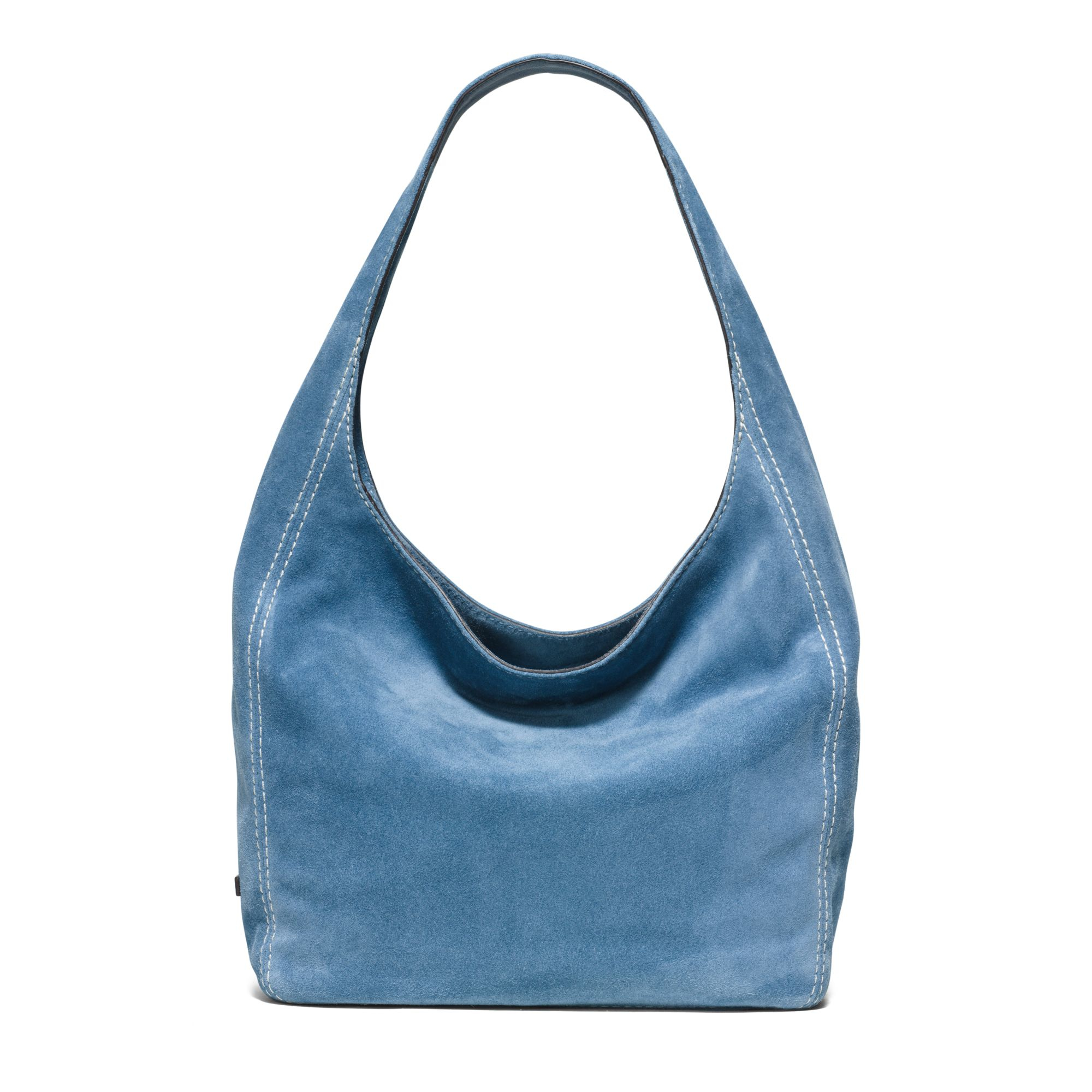 Michael Kors Lena Large Suede Shoulder Bag In Blue Lyst