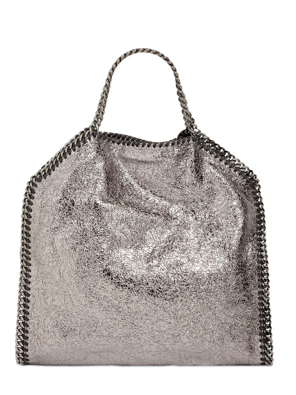 52e9f2606d8a Stella McCartney Falabella Snake-print Bucket Bag in Metallic - Lyst