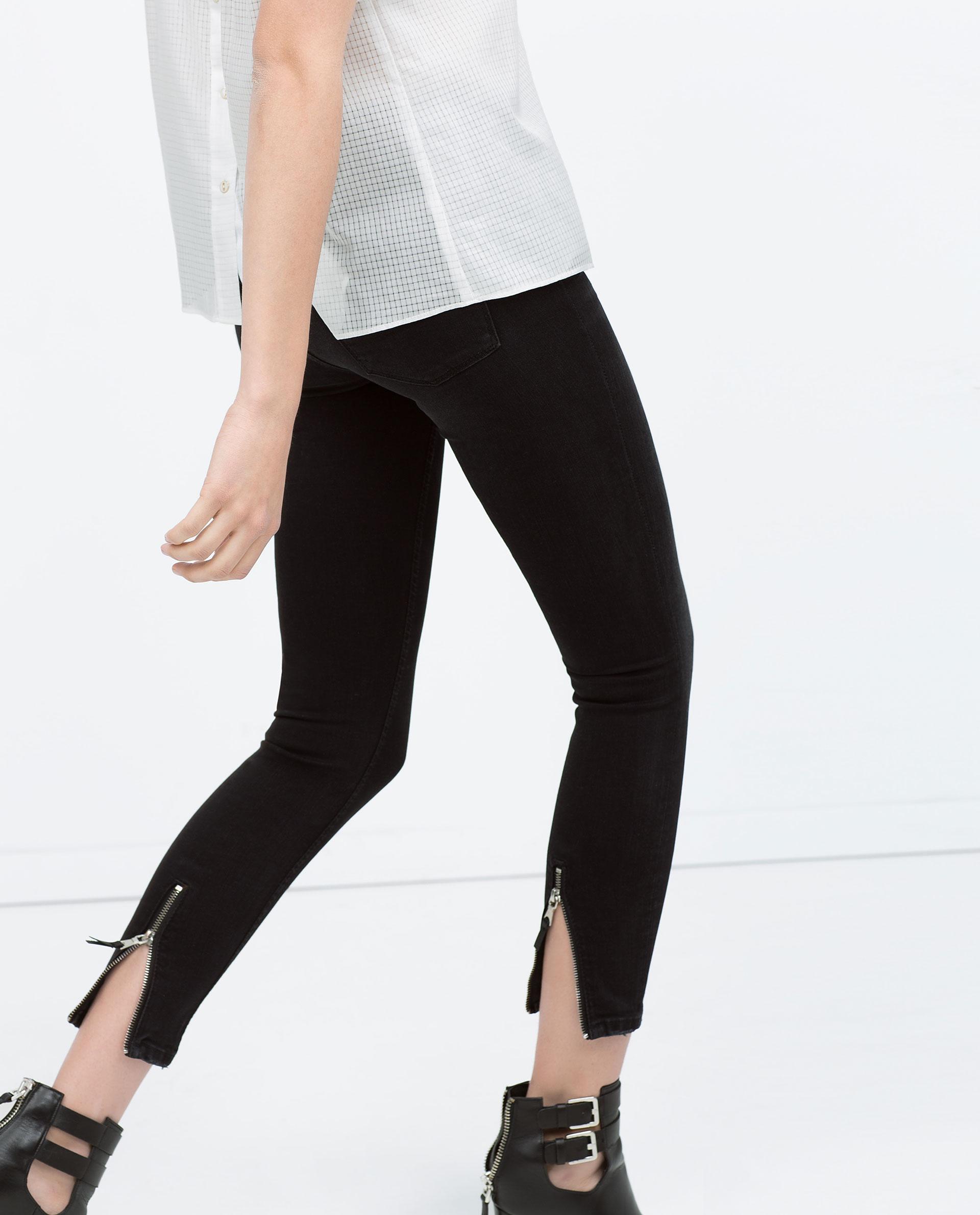 Black Jeans With Zips - Xtellar Jeans