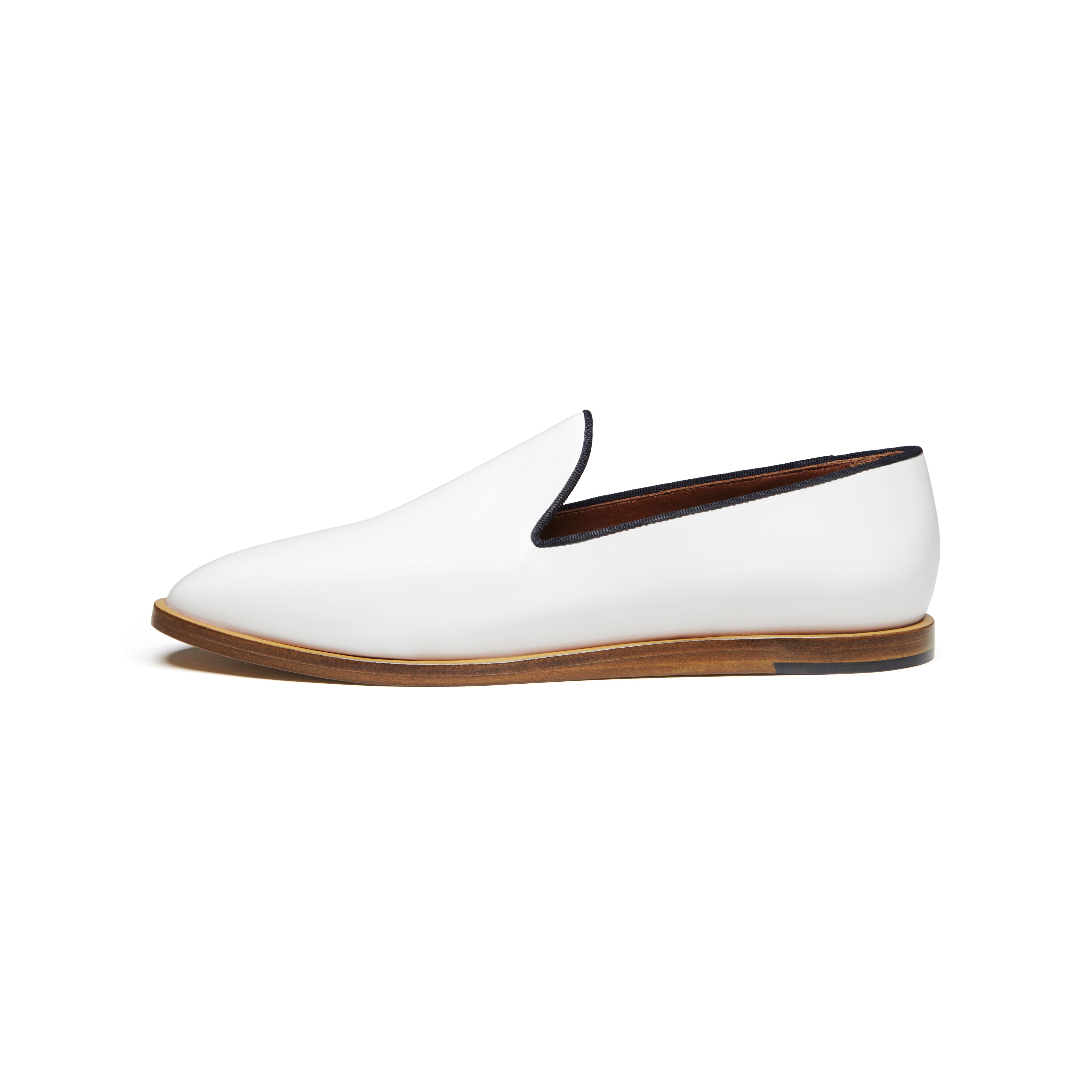 590e09f1fe7 Lyst - Mulberry Loafer in White