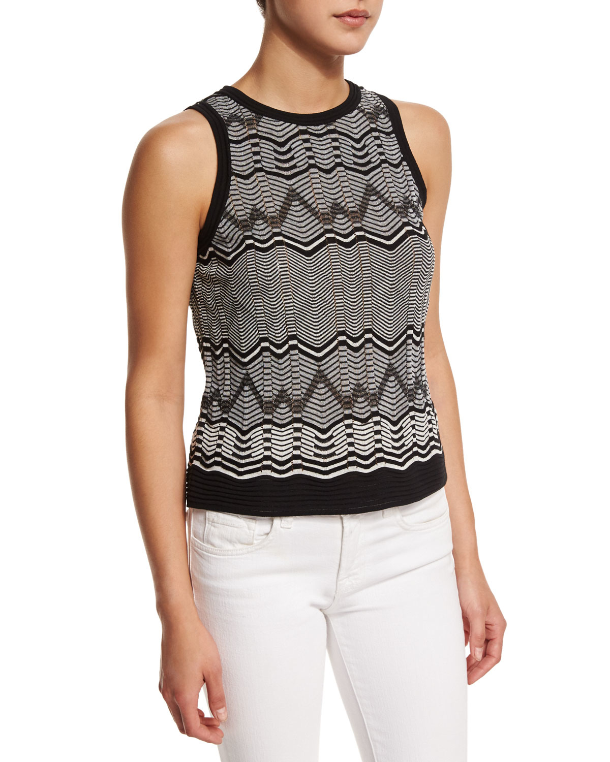 Clearance Very Cheap Huge Surprise Sale Online Missoni Tiered Sleeveless Top ZE1fy9XD