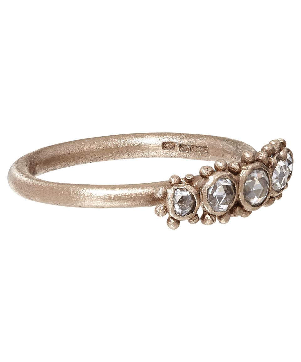 116893206 Ruth Tomlinson White Gold Five Diamond Granule Ring in Metallic - Lyst