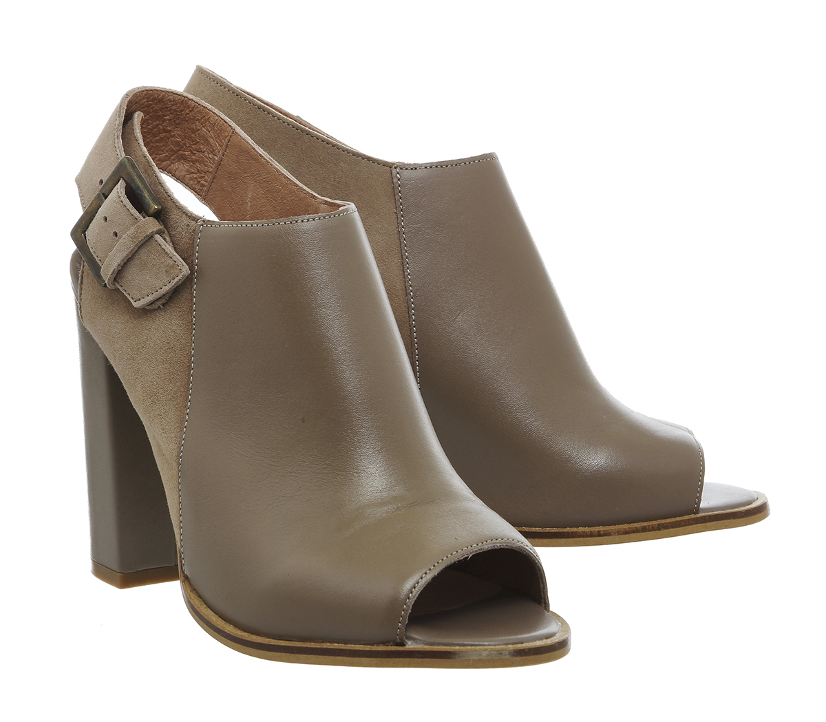 office total peep toe shoe boots in brown lyst