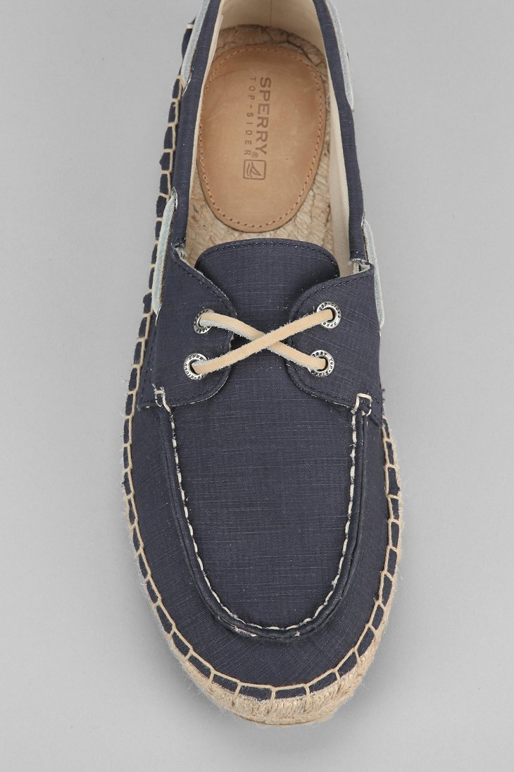 Blue And Stone Sole Boat Shoe