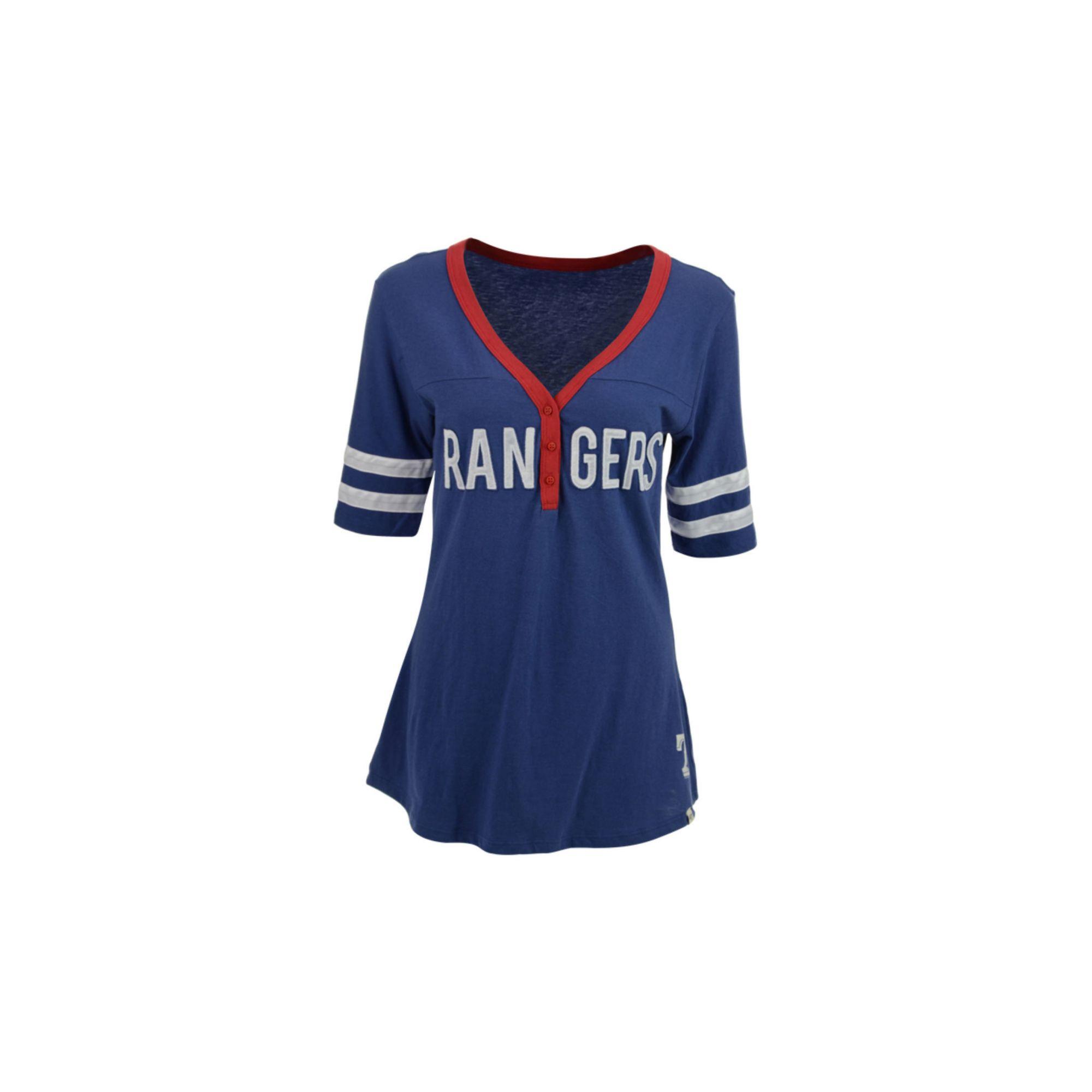 47 Brand Women 39 S Texas Rangers First Up T Shirt In Blue