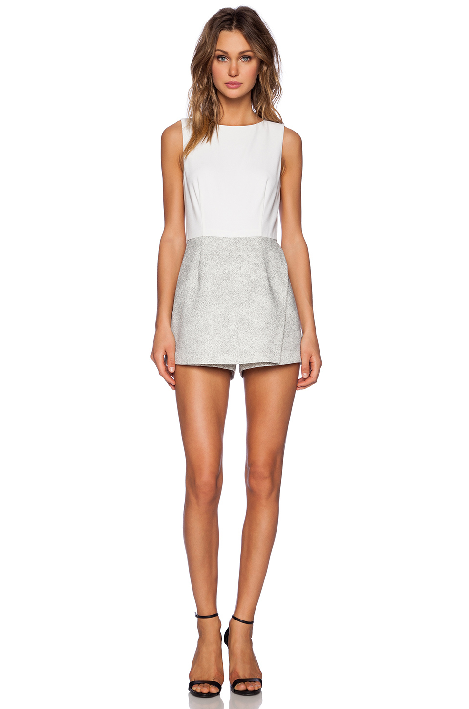 db5532a44299 Lyst - 1.STATE Skirt Romper in White