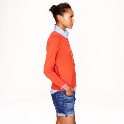 Lyst J Crew Collection Cashmere Zip Cardigan In Orange