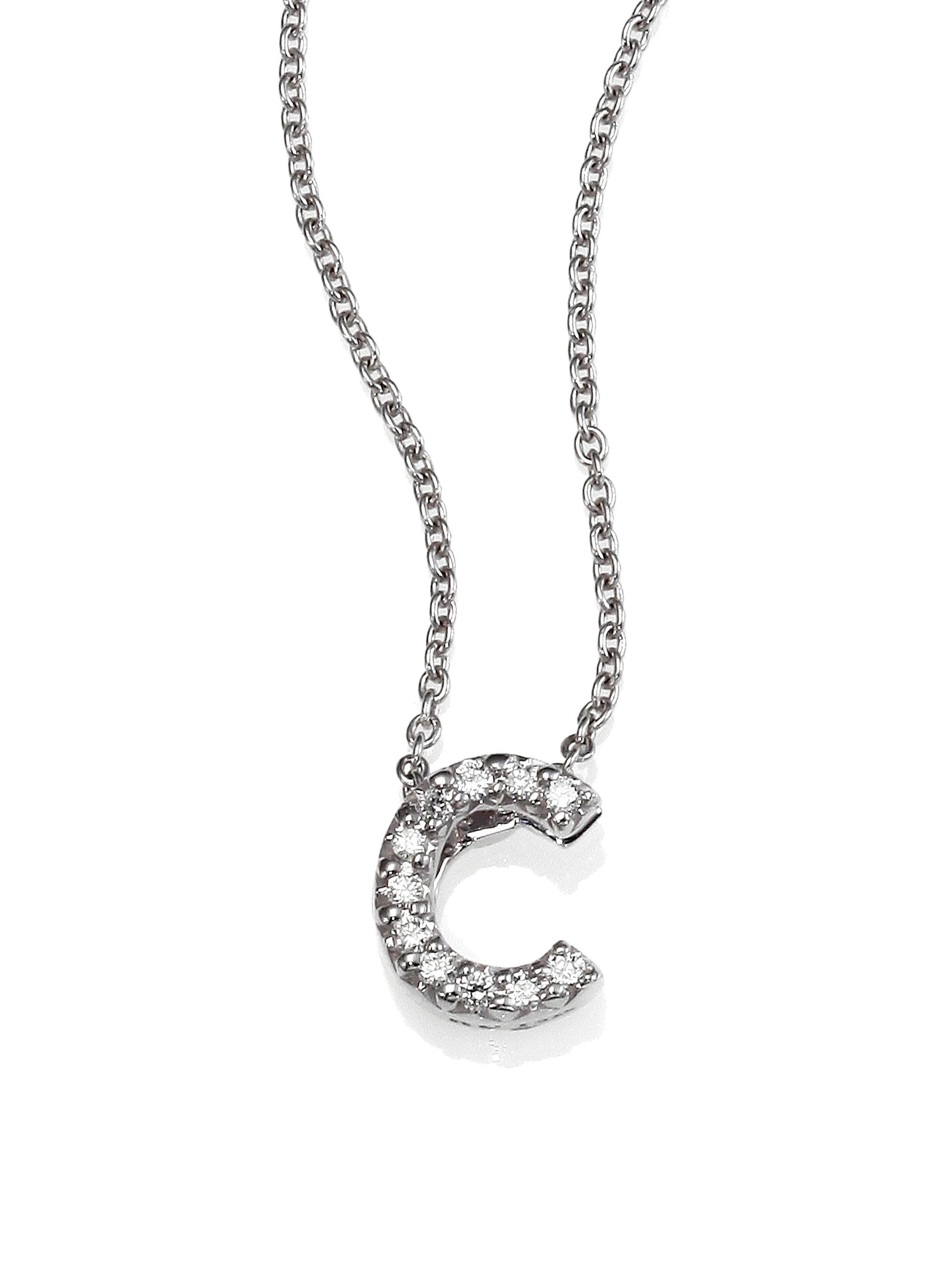 silver tiny treasures diamond amp 18k white gold love letter pendant