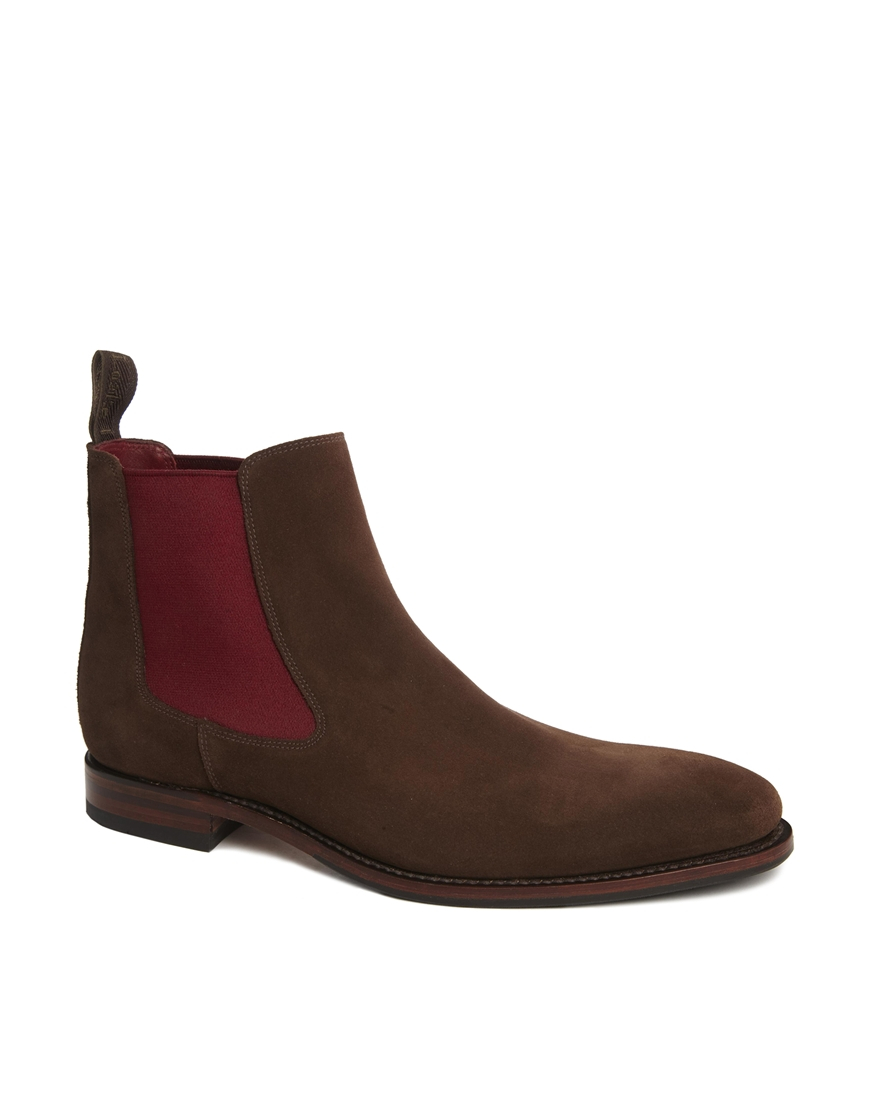 lyst loake suede chelsea boots in brown for men. Black Bedroom Furniture Sets. Home Design Ideas