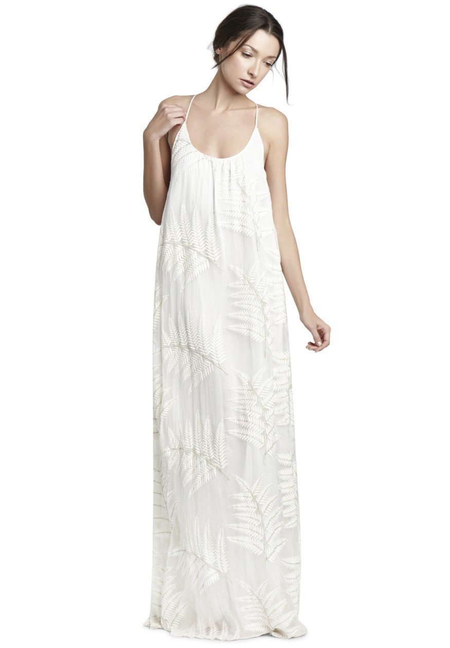 Alice   olivia Kelly Maxi Dress in White | Lyst