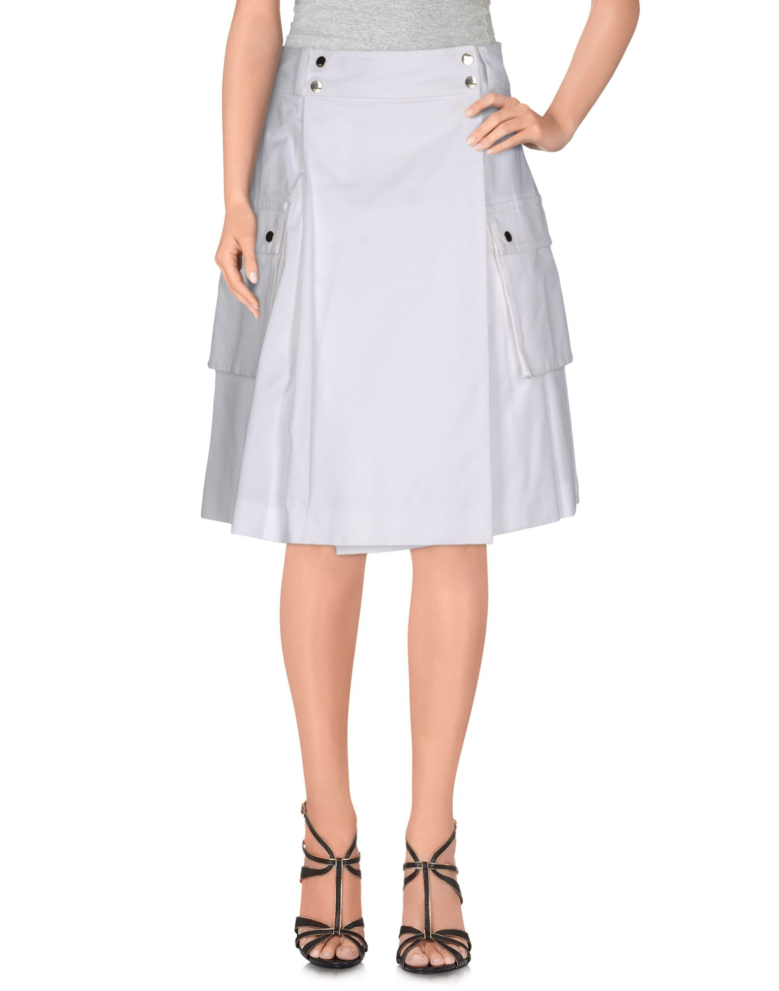 ports 1961 knee length skirt in white lyst