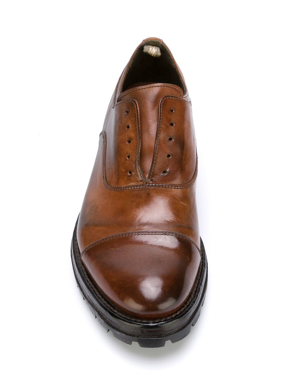 laceless oxford shoes - Brown Officine Creative CJDAtmGd