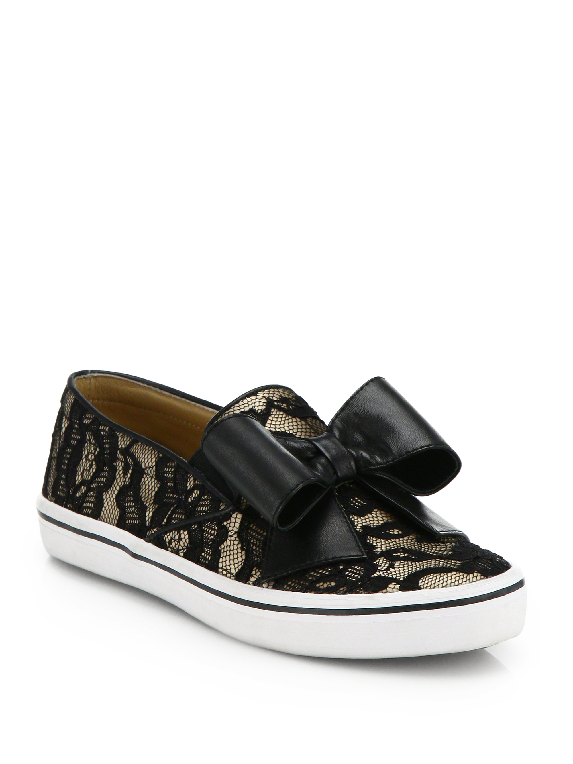 57a38c9c3fe0 Lyst - Kate Spade Delise Leopard Print Haircalf Sneakers