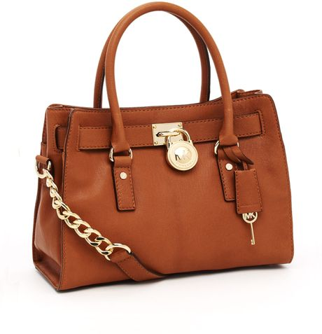 Michael By Michael Kors Hamilton Satchel In Brown Luggage