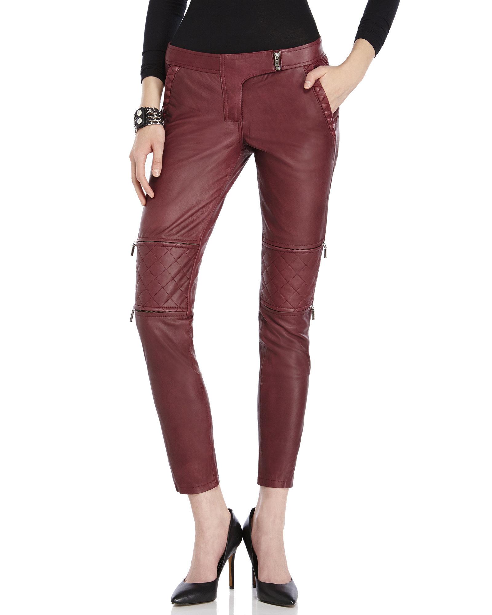 Womens Louisa Leather Biker Pants Sies Marjan lfo9lwpH