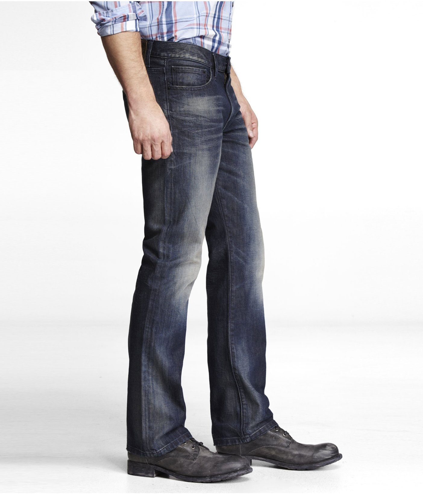 Express Kingston Classic Fit Boot Cut Jean in Blue for Men | Lyst