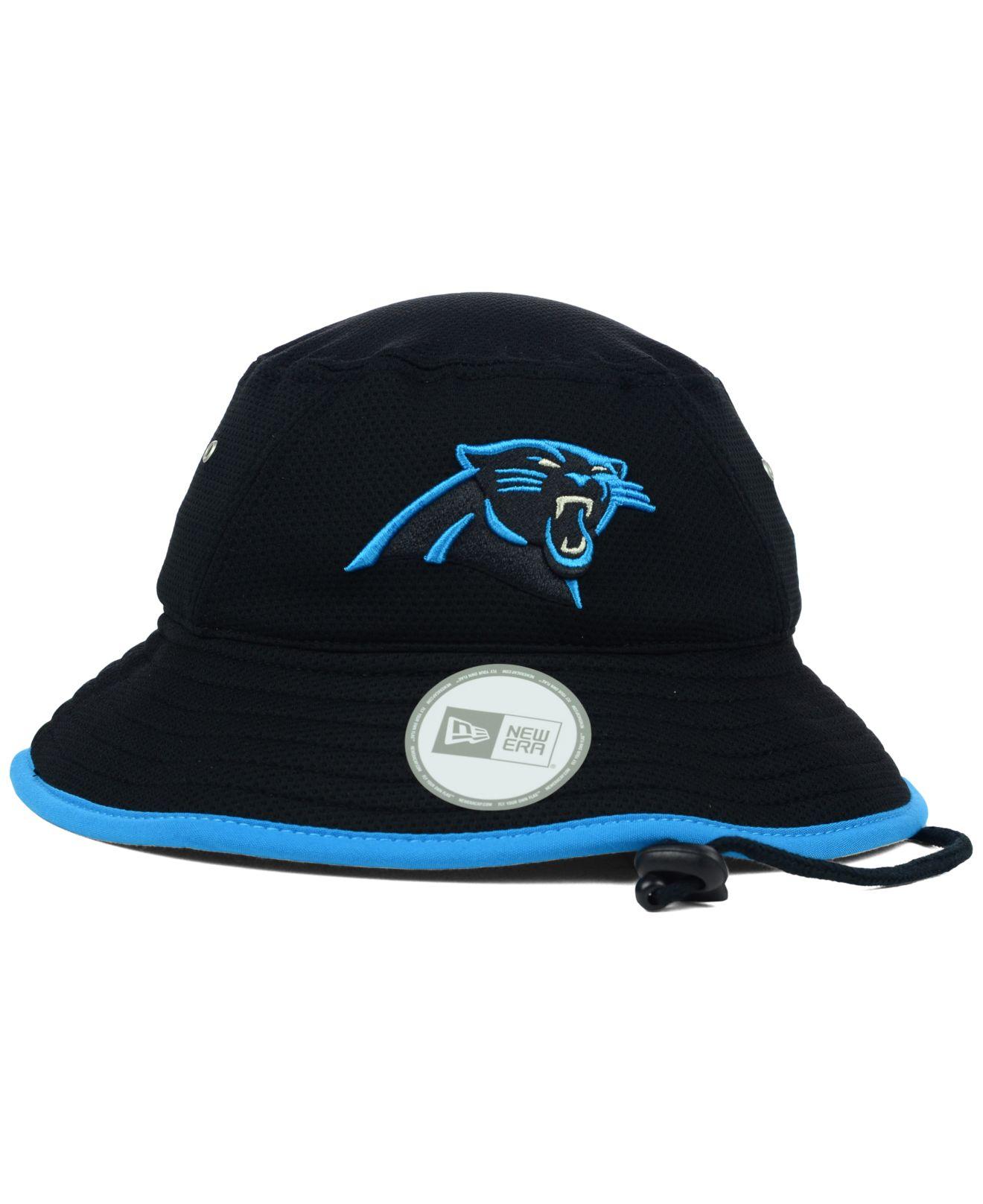 Lyst - KTZ Carolina Panthers Training Bucket Hat in Blue for Men 6e589d8b9