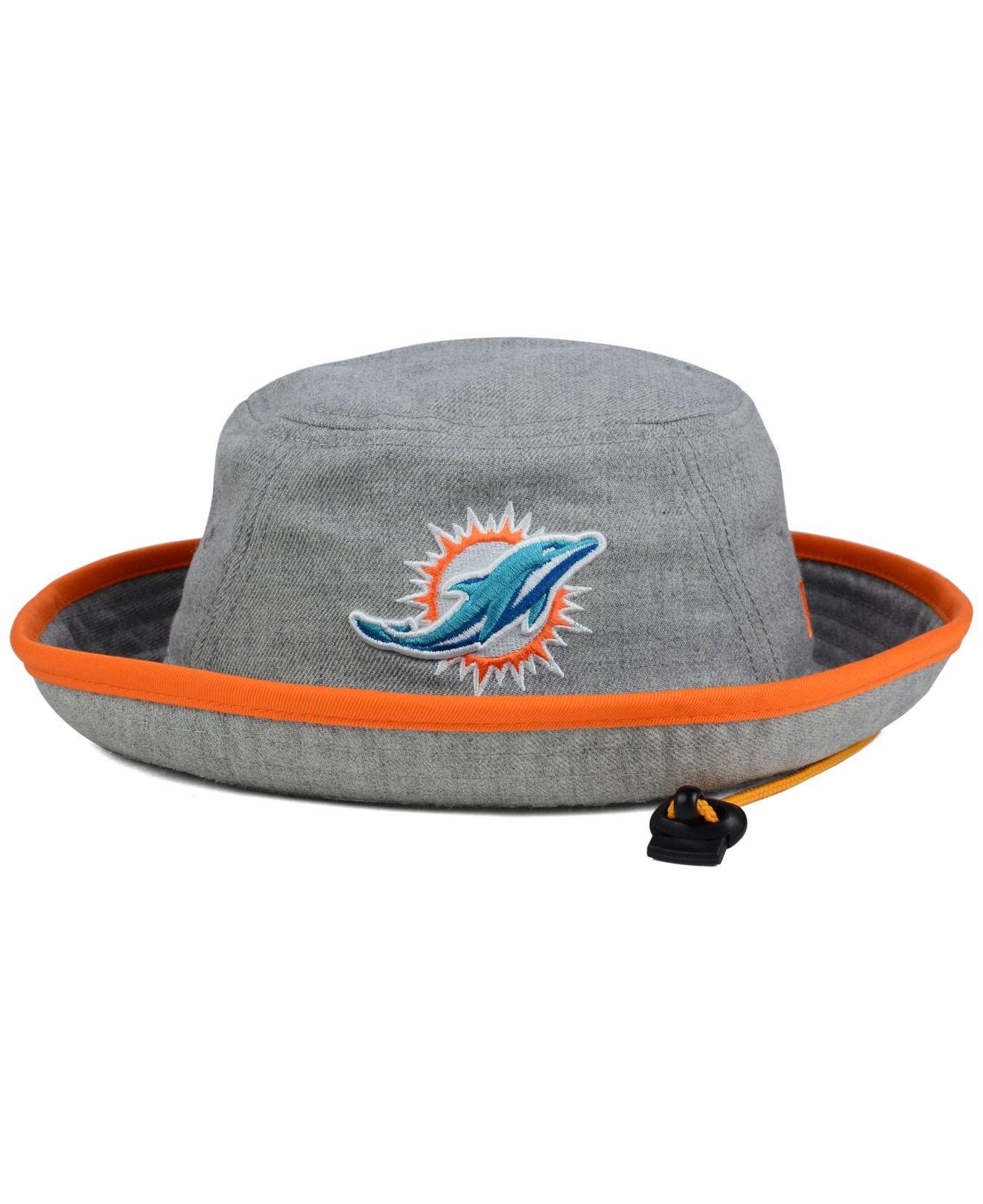 a71601491b0 ... sweden lyst ktz miami dolphins nfl heather gray bucket hat in gray  ecdd5 041be
