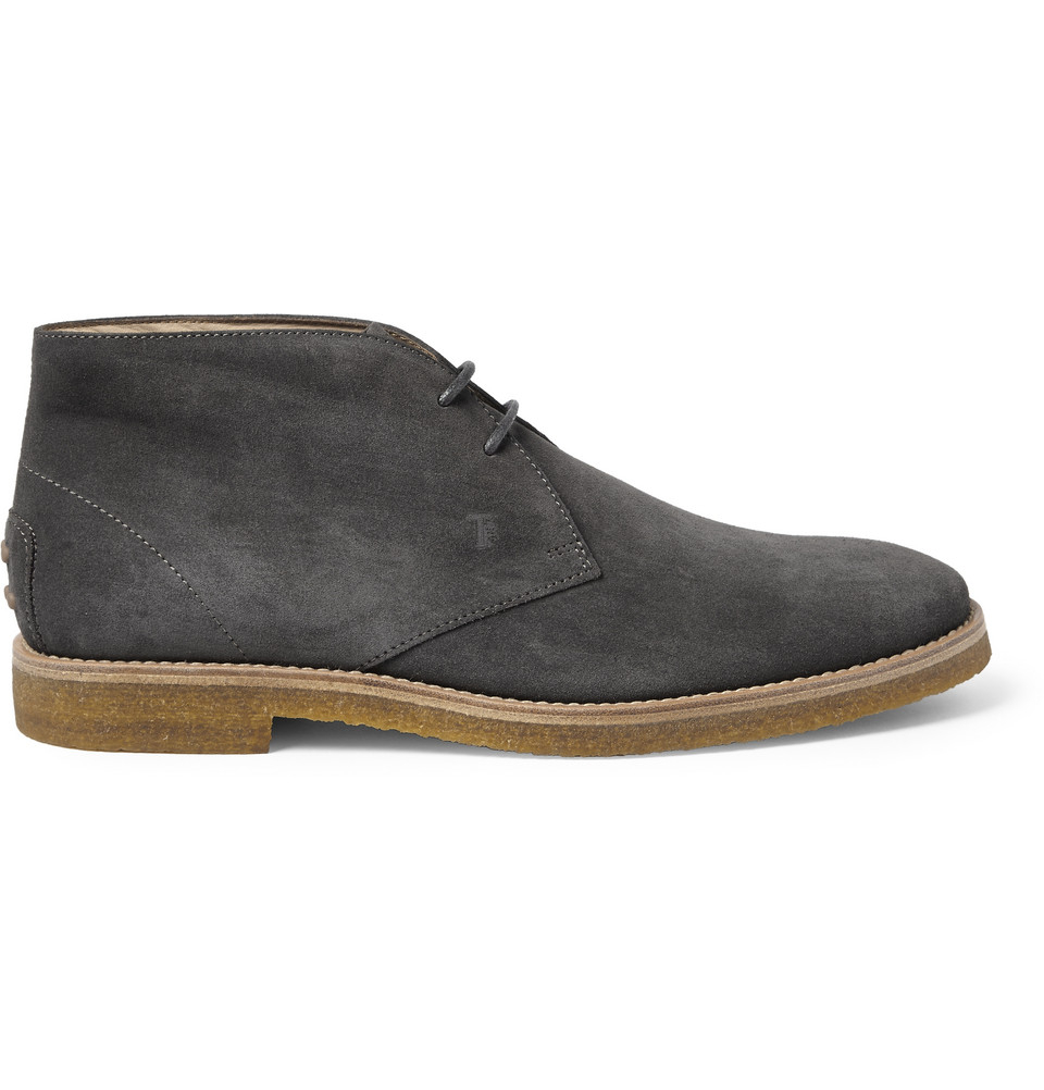 Tod S Suede Desert Boots In Gray For Men Lyst