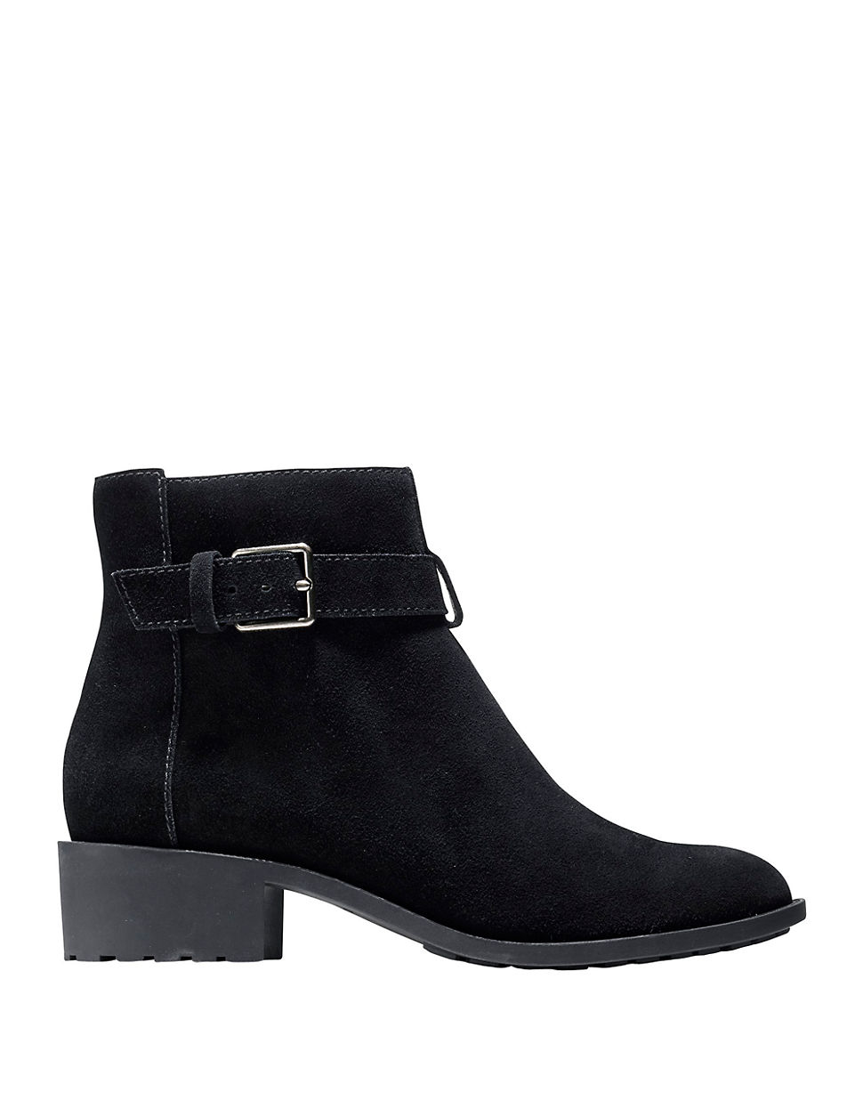cole haan putname suede ankle boots in black lyst