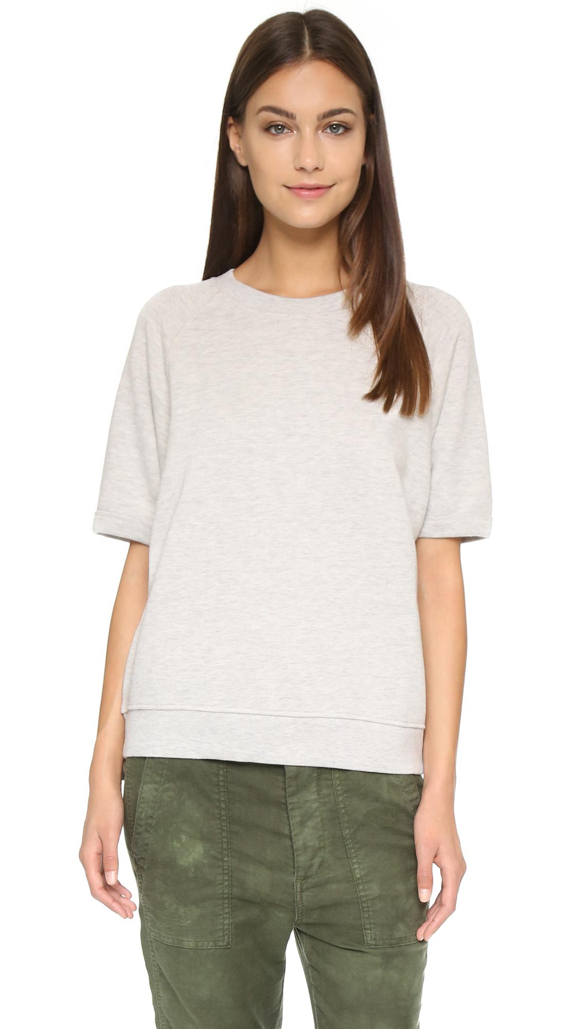 f5ec5d4bda40c Sincerely Jules Cara Short Sleeve Sweatshirt in White - Lyst