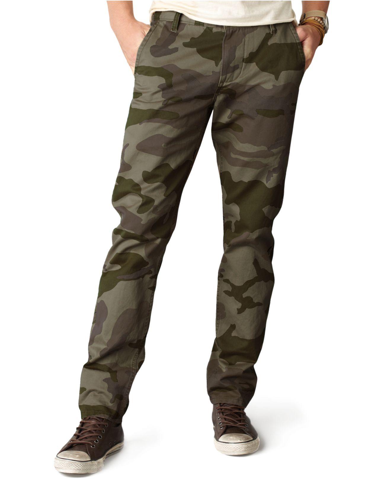 Lyst Dockers Slim Fit Alpha Khaki Camo Flat Front Pants