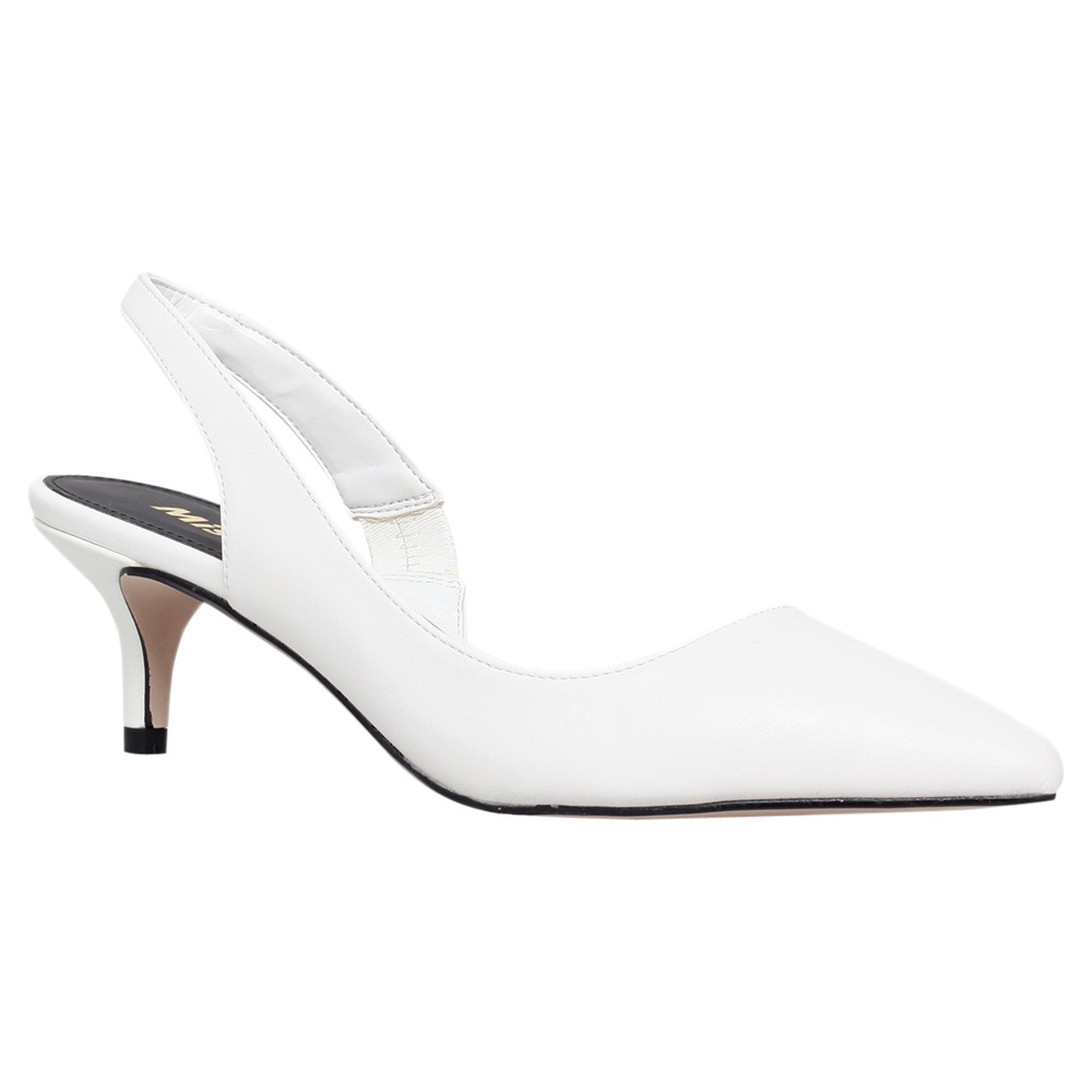 Kitten Heel White Shoes