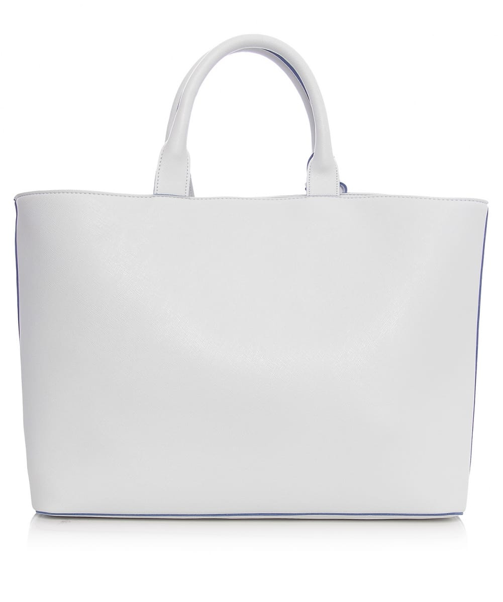 21d32cee24e6 Lyst - Armani Jeans Faux Leather Tote Bag in White