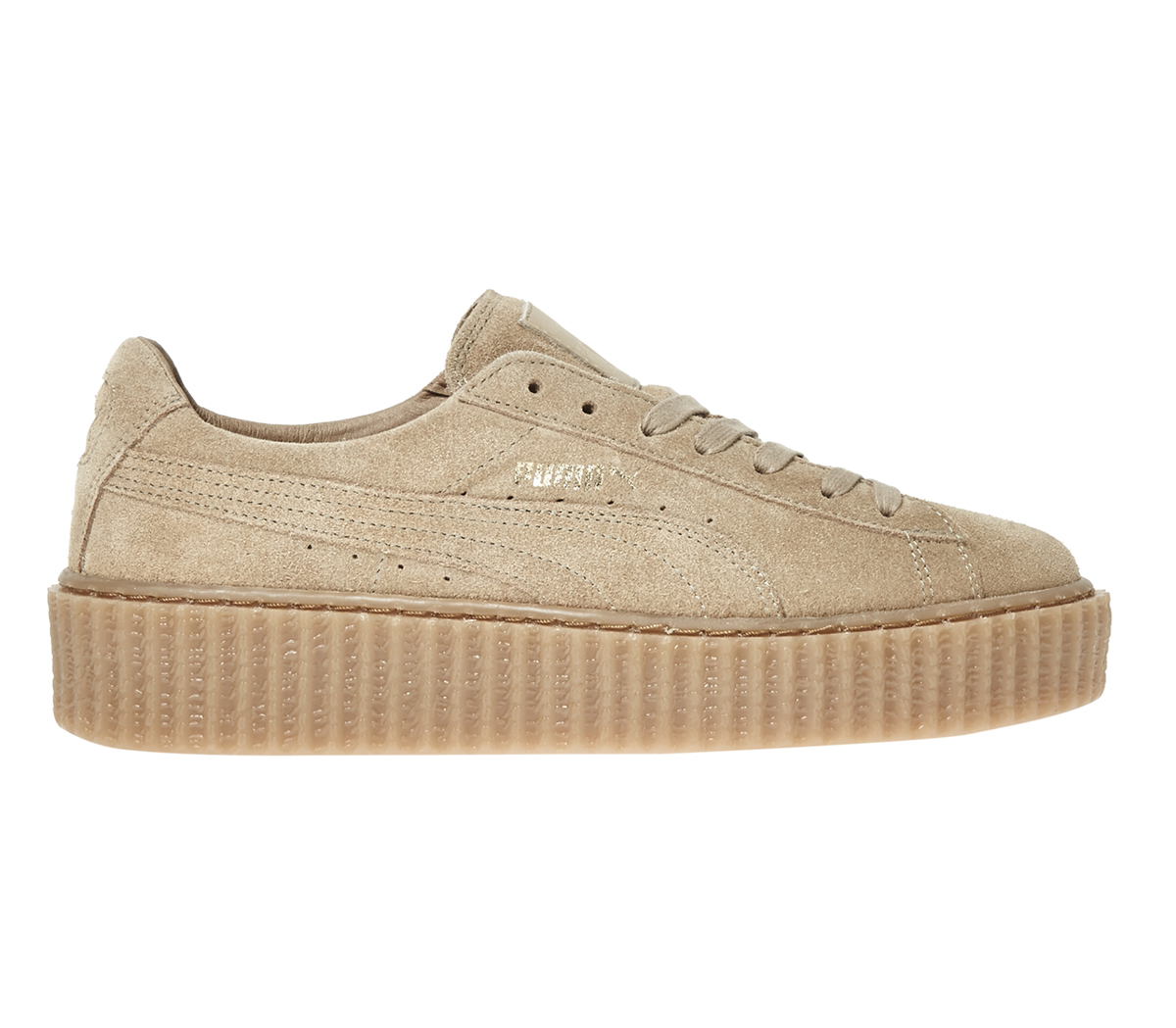 puma suede creepers in metallic lyst. Black Bedroom Furniture Sets. Home Design Ideas
