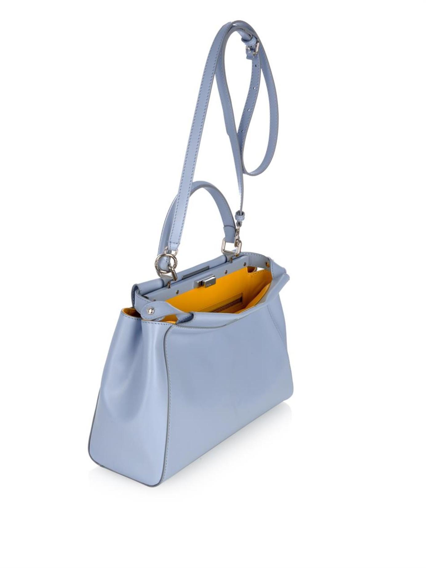 ... ebay fendi peekaboo leather tote in blue lyst a06f2 5bcd2 cc868e81b19b1