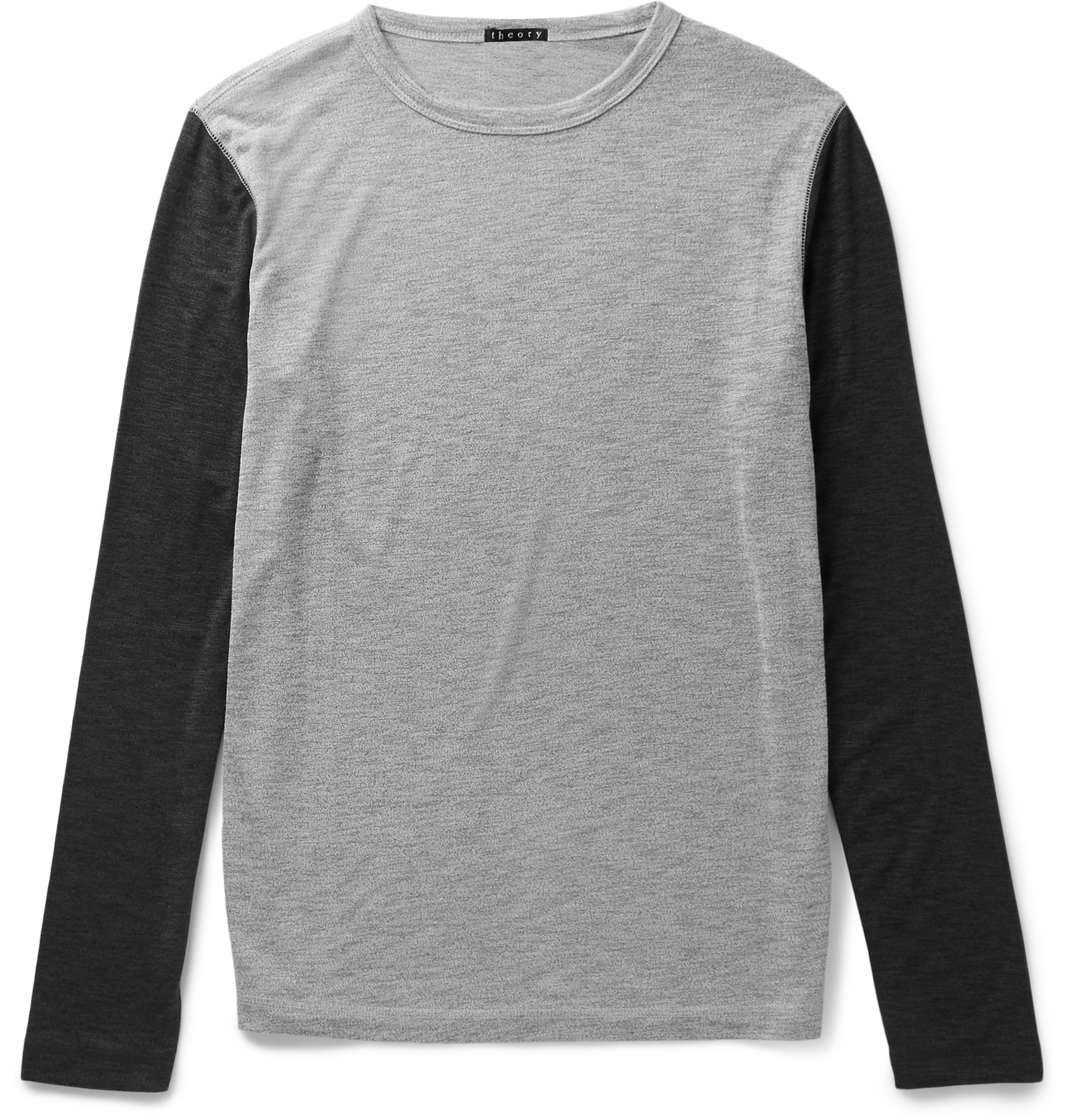 Theory billey modal blend jersey t shirt in gray for men for Modal t shirts mens