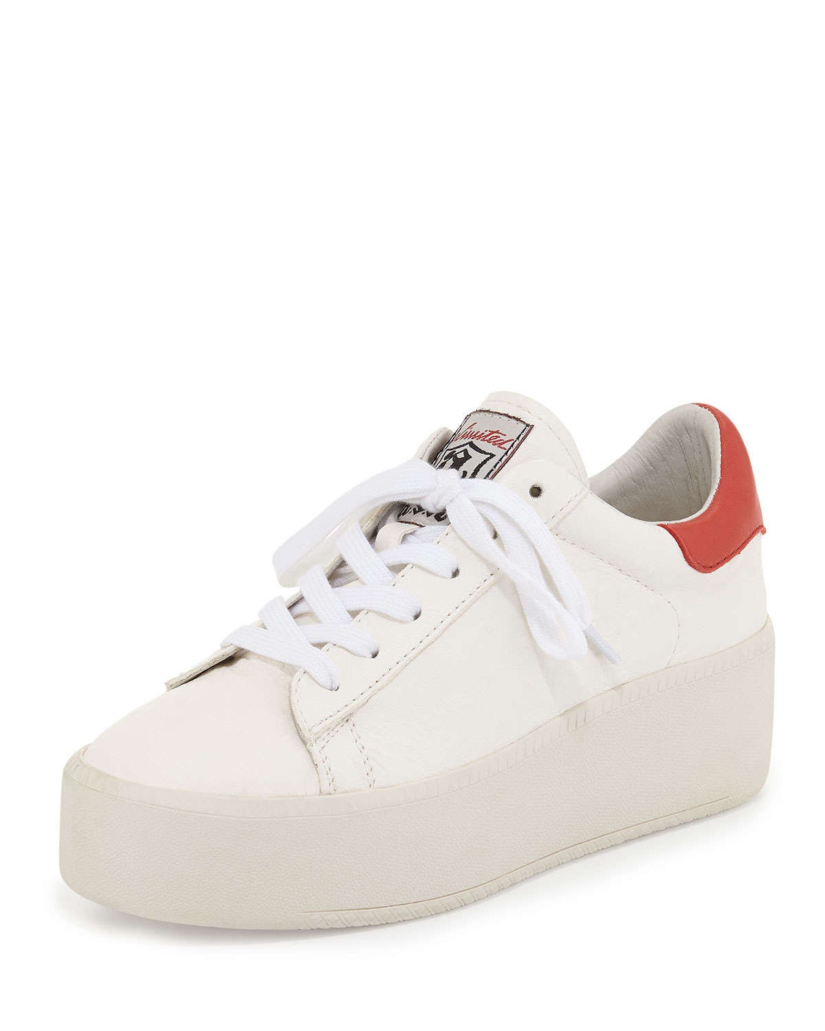 eff9a8332f3 Ash Cult Embossed-Leather Platform Sneakers in Red - Lyst