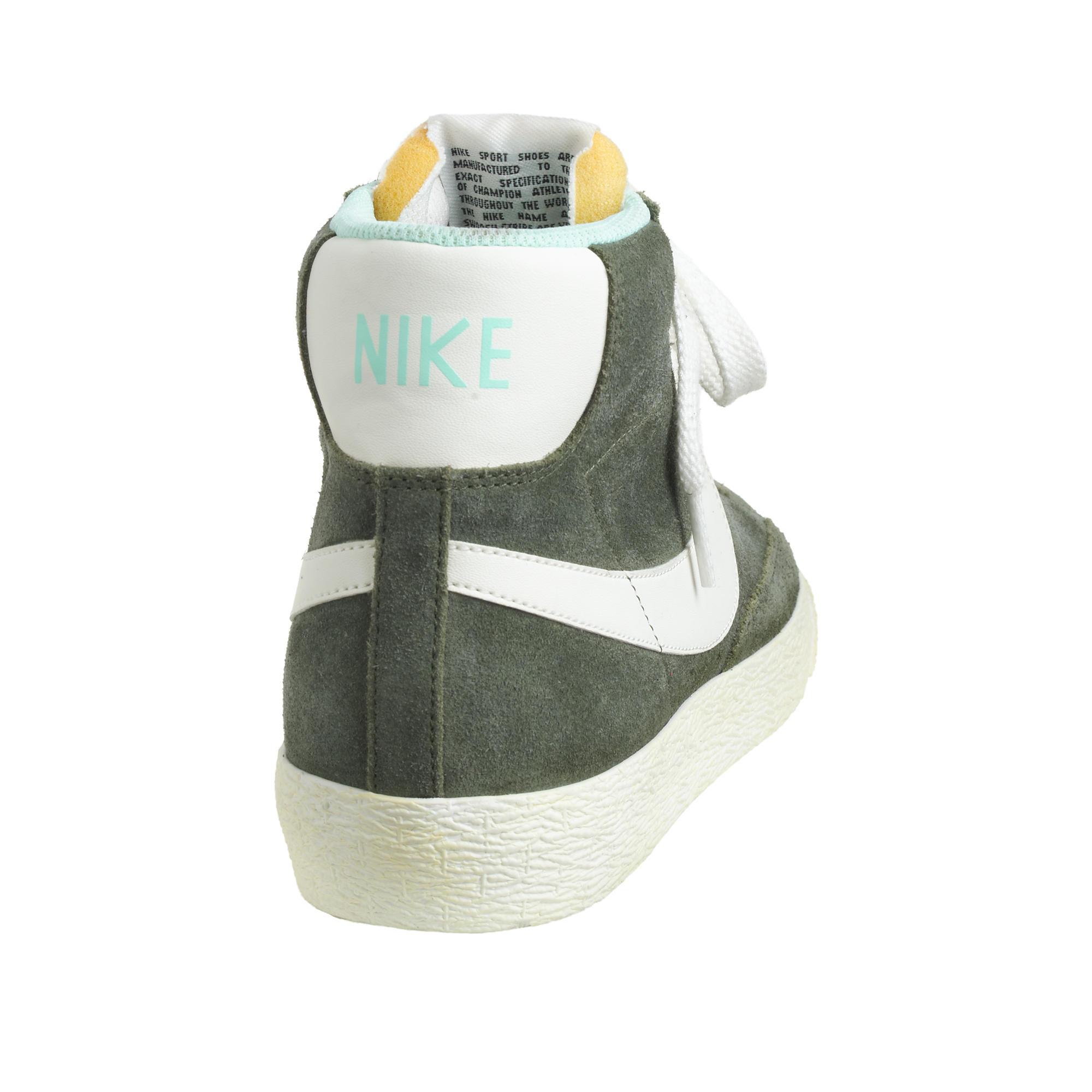 Lyst - J.Crew Women s Nike Suede Blazer Mid Vintage Sneakers in Green 1026fae74a